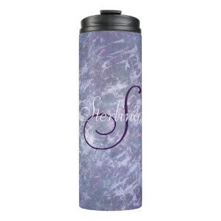 Feisty Bar | Monogram Lavender Purple Splatter | Thermal Tumbler