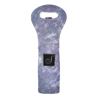 Feisty Bar | Monogram Purple Pastel Splatter | Wine Bag