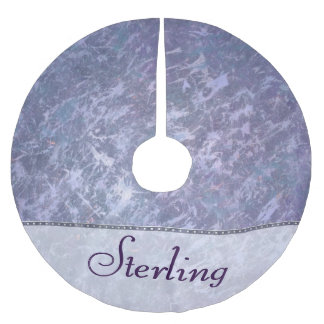Feisty Holiday | Custom Lavender Purple Splatter | Brushed Polyester Tree Skirt