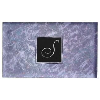 Feisty Party | Monogram Lavender Purple Splatter | Table Card Holder