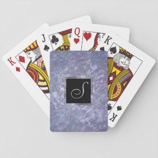 Feisty Play | Monogram Purple Lavender Splatter | Playing Cards