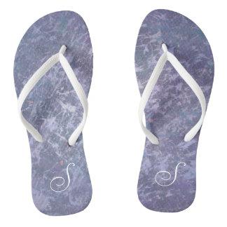 Feisty Style   Custom Lavender Purple Splatter   Thongs