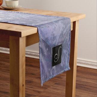 Feisty Table | Monogram Lavender Purple Splatter | Short Table Runner