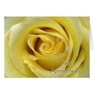 Felice Anniversario, Italian Wedding Anniversary Card