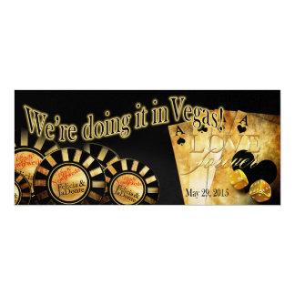 Felicia Champagne Shimmer Las Vegas Deluxe Wedding Card