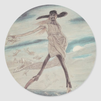 Felicien Rops: The Satanic. Satan Sowing Tares Sticker