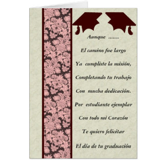 Felicitacion de Graduacion Card