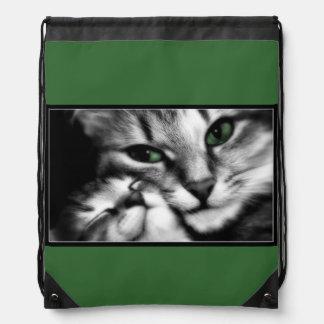 Feline Affection Drawstring Bag