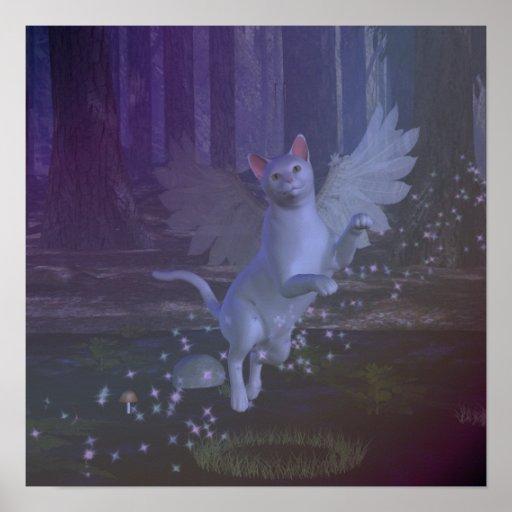 Feline Flight Poster