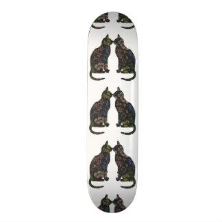 Feline Flowers Skate Boards
