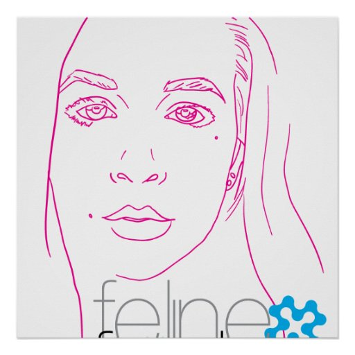 feline fräulein portrait poster
