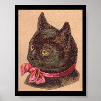 Feline Friend Shades of Black Posters
