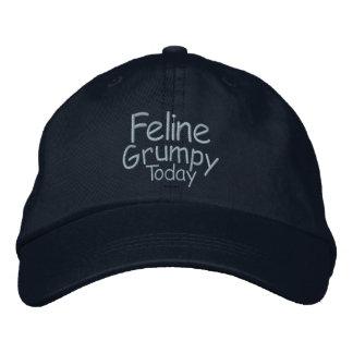 Feline Grumpy Today Embroidered Baseball Cap