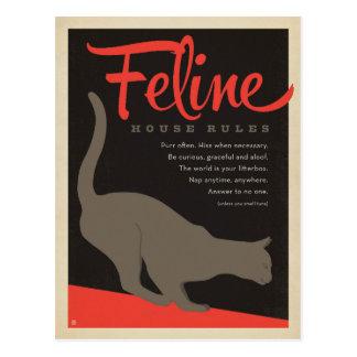 Feline House Rule Postcard