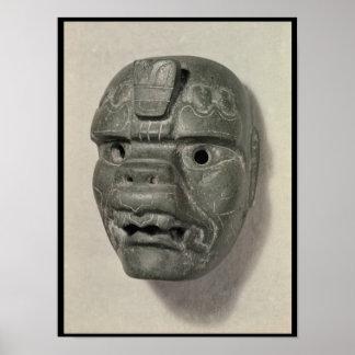 Feline mask of a man from Oaxaca Pre-Columbian Posters