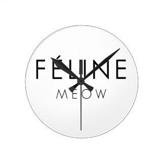 Feline Meow Round Clock