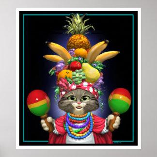 Feline Miranda Poster