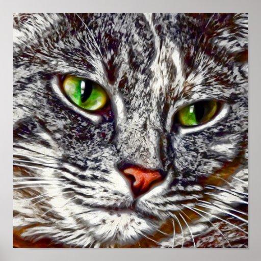 Feline Portrait Poster