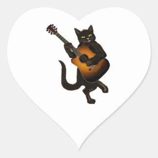 Feline Tune Heart Sticker