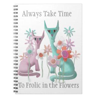 Felines in Flowers Notebooks