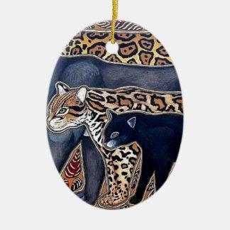 Felines of Costa Rica - Big cats Ceramic Ornament