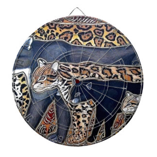 Felines of Costa Rica - Big cats Dartboard With Darts
