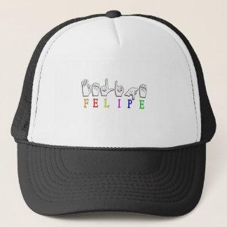 FELIPE ASL FINGERSPELLED NAME SIGN TRUCKER HAT