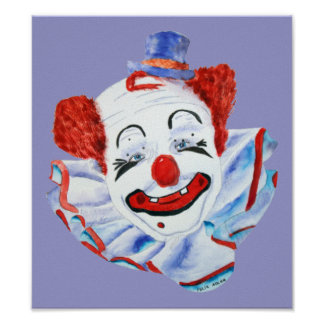 Felix Adler Clown Print