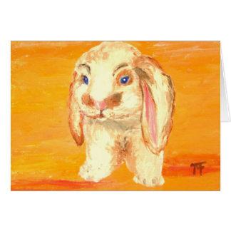 """Felix"" - Bunny Greeting Card"