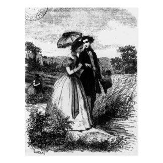 Felix de Vandenesse and Madame de Mortsauf Postcard