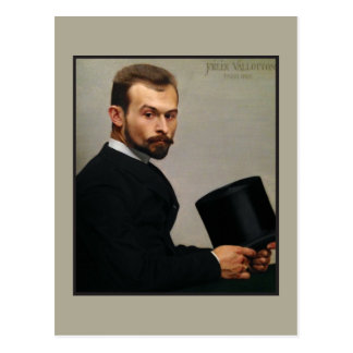 Felix Jasinski Holding Hat by Vallotton Postcard