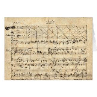 Felix Mendelssohn Elijah Piano Manuscript card