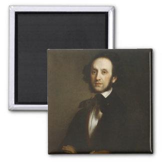 Felix Mendelssohn Square Magnet