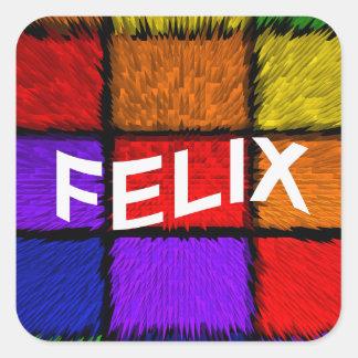 FELIX SQUARE STICKER