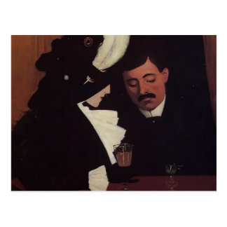 Felix Vallotton - At the Café, The Provincial Postcard