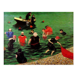 Felix Vallotton : Bathing in Etretat Postcard