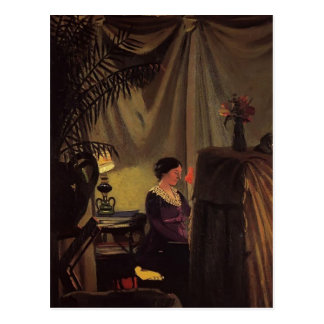 Felix Vallotton - Gabrielle Vallotton at the Piano Postcard