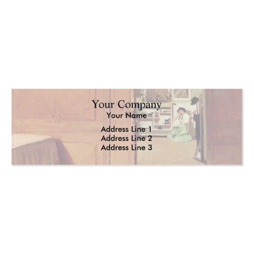 Felix Vallotton : Interior, Vestibule by Lamplight Business Card Templates