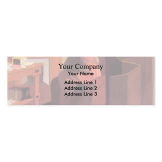 Felix Vallotton - Intimacy Couple in Interior Business Card Templates