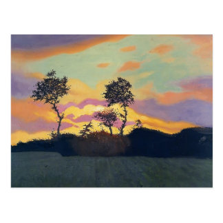 Felix Vallotton - Landscape at Sunset Postcard