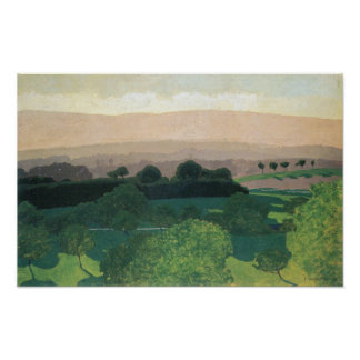 Felix Vallotton-Landscape in Romanel Poster