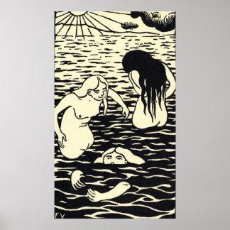 Felix Vallotton - Les trois baigneuses Poster