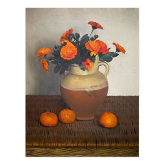 Felix Vallotton - Marigolds and Tangerines Postcard