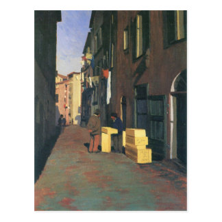 Felix Vallotton - Old street in Nice France Postcard
