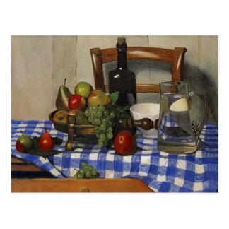 Felix Vallotton - Still Life with Blue Tablecloth Postcard