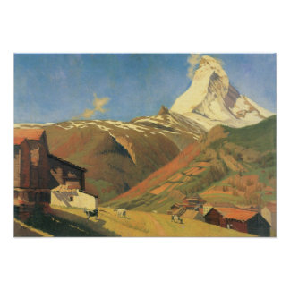 Felix Vallotton-View of Zermatt Poster