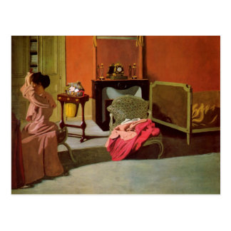 Felix Vallotton - Woman being capped Postcard