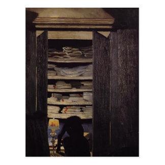 Felix Vallotton - Woman Searching through Cupboard Postcard