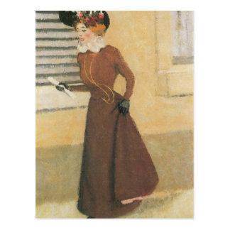 Felix Vallotton - Woman with hat Postcard
