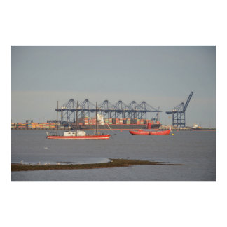 Felixstowe Container Port Poster